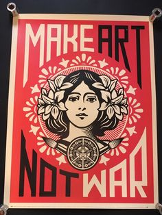 Title: Make Art Not War aka Peace Girl. His work is included in the collections at The Smithsonian, the Los Angeles County Museum of Art, the Museum of Modern Art in New York City, the Museum of Contemporary Art San Diego, the National Portrait Gallery in Washington, D.C., the Virginia Museum of Fine Arts in Richmond, and the Victoria and Albert Museum in London. | eBay!