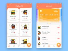 McDonald's order to pay app 02 designed by ruki 👑. Connect with them on Dribbble; the global community for designers and creative professionals. Web Design, App Ui Design, User Interface Design, Logo Design, Graphic Design, Application Mobile, Application Design, App Design Inspiration, Mobile Ui Design