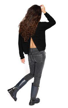Black Adina Sweater from 360 Sweater