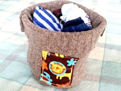 Recycled Fabric, 100 Pure, Storage Baskets, Making Out, Berry, Recycling, Felt, Pure Products, Wool