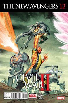 New Avengers Series) Marvel Comics Modern Age Comic book covers Civil War II 2 Marvel Comics, Ms Marvel, War Comics, Marvel Art, Captain Marvel, Cosmic Comics, Captain America, The Avengers, Avengers 2015