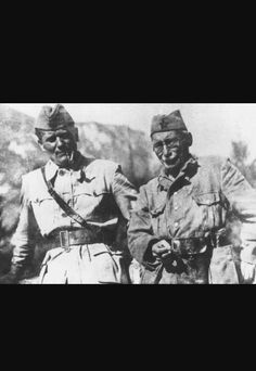 Josip Tito and partisan leader Mosa Pijade a prominent Jewish partisan~1944