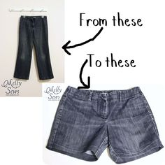 Today I'm going to show you how to take jeans, cut them off, and hem them so they look like they were shorts all along!    Why not just buy shorts, you ask? Well, there are a couple reasons. First of all, I got the jeans for $3 at my local thrift store. Jeans are more readily available than shorts there. Secondly, I suspect a conspiracy, just like the intimate apparel