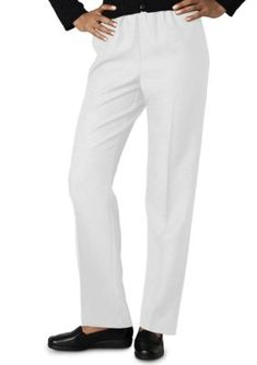 Alfred Dunner White Plus Size Classic Pull On Pant Average  Short