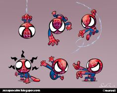 Spidey's not one of my favorites, but these are so incredibly cute I just had to share.