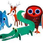 2D-Puzzle Tierparade 12 Stück Bastelmaterial