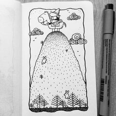 Dave Garbot — The Hilltop #illustration #drawing #penandink...