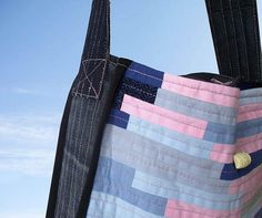 FREE SHIPPING  Pink Tote Bag-Hand Bag-Patchwork Tote