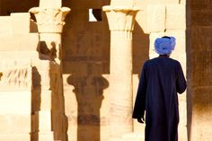 Philae Temple In Egypt: A local at Philea Temple in Egypt. Photo taken very early in the morning. #travel