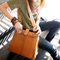 Olivia 2012 - Snap Closure Shoulder Bag - Light Brown