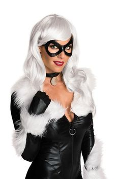 Womens Marvel Black Cat Costume White Wig, Women's, Size: Standard - One Size