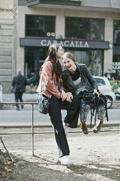 Milan Fashion Week 2015 S/S Street Style :Day 5 #offduty #model #monamatsuoka