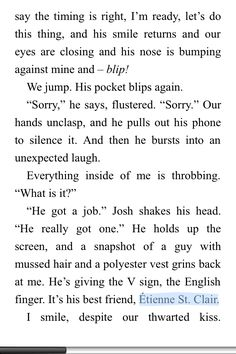 SO I WAS READING ISLA AND THE HAPPILY EVER AFTER AND THIS HAPPENED