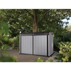 Buy Keter by Grande Store Brushed Shed Garden Storage Bike Wheelie Bin XL Size DUOTECH from our Garden Storage range - @ Garden Store Direct 10x10 Shed Plans, Diy Shed Plans, Outdoor Storage Bin, Outdoor Paint, Outdoor Decor, Outdoor Ideas, Resin Sheds, Corner Sheds, Tongue And Groove Panelling