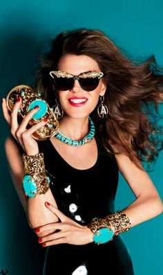 45) Anna Dello Russo~ No one accessorizes & rocks fashion quite like this  fashionista. She is a street style legend, Editor-At-Large & Creative Consultant for Vogue Japan. Her eccentric, & fly fashion style can be seen all over the world from Pinterest, blogs, her own blog ADR Factory, & definitely the streets. Anna's blog showcases her flamboyant fashion styles, & ADR for H & M, & all things fashion. Anna is a FASHION ICON. This is why she is Miss Millionairess of the Day…