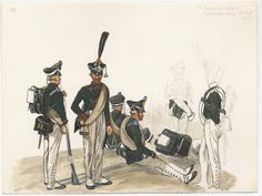 Russia Egers (Jagers) of 38th Regt. - 1815