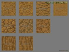 Hand painted texture pack - Natural Surfaces