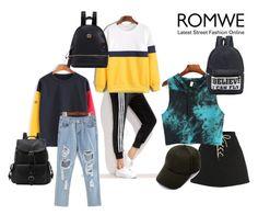 """ROMWE"" by evelina-hagstrom on Polyvore"