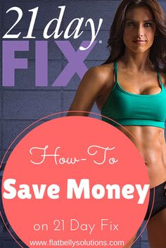 how to save money on 21 day fix