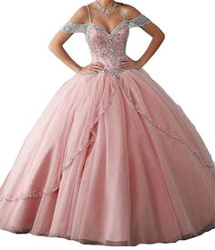 BanZhang Women's Long Quinceanera Prom Dresses Off Should...