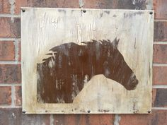 Horse silhouette on a distressed canvases in by OneLetterataTime, $30.00