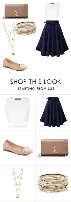 """""""outfit"""" by taylor-ross115 on Polyvore featuring BCBGMAXAZRIA, SO, Yves Saint Laurent and Kendra Scott"""