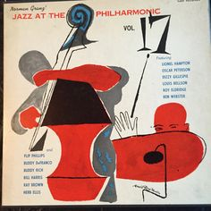 Jazz at the Philharmonic, Vol label: Clef MGC Art design by David Stone Martin. Lp Cover, Vinyl Cover, Cover Art, David Stone, Jazz Poster, Classic Jazz, Jazz Art, Pochette Album, Jazz Festival