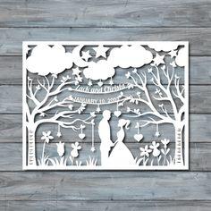 Wedding Paper Cut Template  Paper cut Templates  PDF