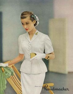 May Vogue 1951 ... This look would have been beautiful enough for an informal and/or courthouse wedding.