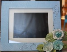 digital photo frame altered to fit my decor