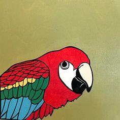 "Macaw by Dylan Metrano Papercutting Woodblock Original Art 8""x8"" Paula Estey Gallery http://www.amazon.com/dp/B0189OVHB4/ref=cm_sw_r_pi_dp_LU-Jwb0JP7EW0"