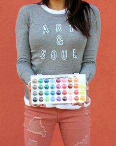 Art & Soul Embroidered Sweater - the perfect gift for the crafty gal in your life!