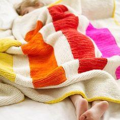 renkli örgü battaniye modeli
