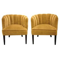 Channel Back Slipper Chairs TN Studio Collection from TREBOR/NEVETS for $1,150 on Square Market