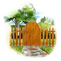 Picket Fence And Gate