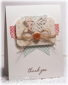 Thank You - deconstructing jen   handmade cards, sketches and tutorials