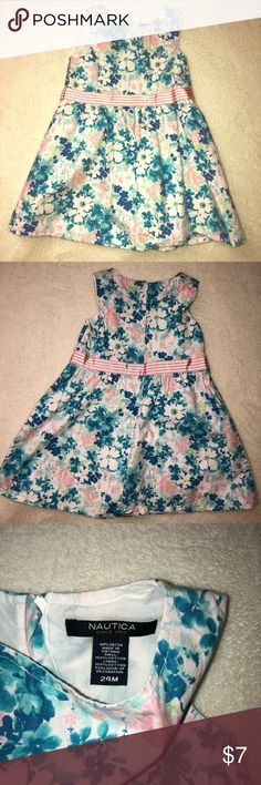 Nautica Multicolored Floral Dress - 24months Nautica Multicolored Floral Dress  Size: 24months  Cute Easter/Spring Time Dress for your princess.   Comes from a clean smoke free home. Nautica Dresses Casual