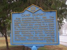 Camp DuPont Marker. Click for full size.