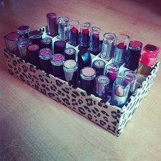 100 best diy lipstick holder images on pinterest diy lipstick diy lipstick or makeup holder must do i have like 50 different shades of solutioingenieria Gallery