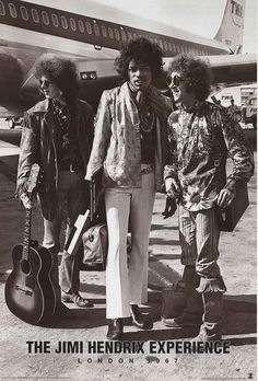 """An awesome poster of Jimi Hendrix, Noel Redding, and Mitch Mitchell - The Jimi Hendrix Experience - in London in 1967! Fully licensed. Ships fast. 24x36 inches. """"Experience"""" the rest of our great sele"""