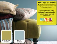 Decorating with Watery Blues & Yellowish Greens- Design Tips from CertaPro Painters