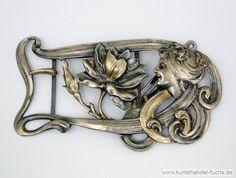 Schmuck Deutschland Silber Frauenprofil Jugendstil um1900