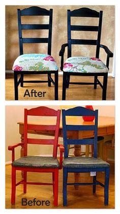 cute chair reupholster.
