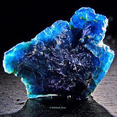 Blue Apatite Brazil by Orbital Joe, via Flickr