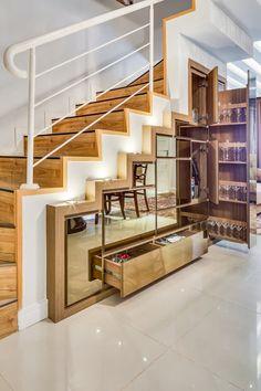 20 Under Stair Storage Ideas for Maximizing Unused Space Wanda Olesin Understairs Storage Ideas Maximizing Olesin Space Stair storage unused Wanda Cabinet Under Stairs, Bar Under Stairs, Space Under Stairs, Open Stairs, Stair Shelves, Staircase Storage, Stair Storage, Staircase Design, Hallway Storage
