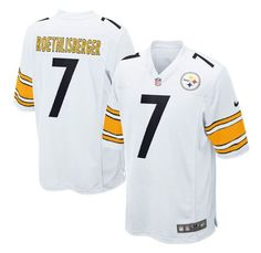 Nike Steelers #7 Ben Roethlisberger White Men's Stitched NFL Limited Jersey