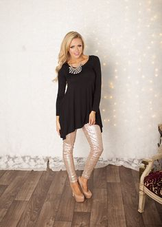 Nothin-but-sequins pants in gold! Only $39!
