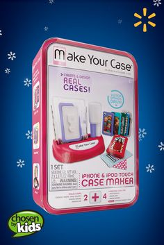 Make Your Case Case Maker | Walmart—Customized cell phone cases are easy to make with this unique kit. See the full list of kids' favorite toys and gifts. Kids Christmas, Christmas Crafts, Phone Case Maker, Walmart Usa, Designer Cell Phone Cases, Make Your Case, Alphabet Stickers, Small Case, Full House