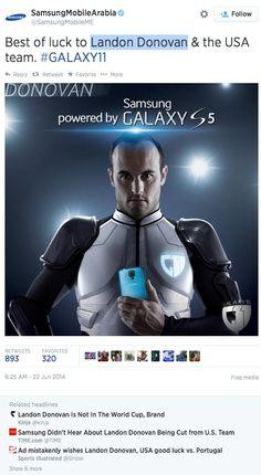 Samsung world cup faux pas
