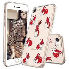 iPhone 8 Case, Clear iPhone 7 Case, MOSNOVO Fashion Rabbit Pattern Clear Design Transparent Plastic Hard Back with TPU Bumper Protective Case Cover for Apple iPhone 7 / iPhone 8 inch) Cool Iphone 7 Cases, Iphone 7 Covers, Iphone Cases For Girls, Iphone 6 Plus Case, Samsung Galaxy, 6s Plus, Apple Iphone, Galaxy S8, Phone Cases